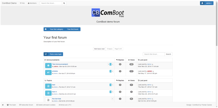 ComBoot – The Professional phpBB Bootstrap Theme