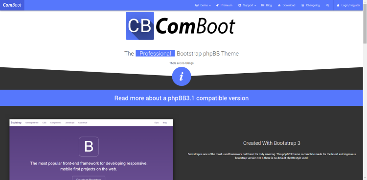 ComBoot About Page